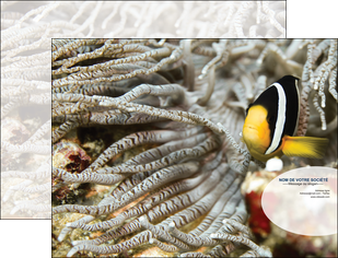imprimerie pochette a rabat animal poisson plongee nature MLGI37915
