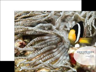 personnaliser maquette pochette a rabat animal poisson plongee nature MLGI37917