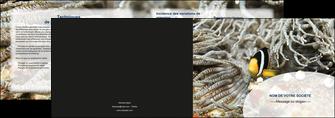 personnaliser modele de depliant 2 volets  4 pages  animal poisson plongee nature MLGI37919