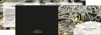 modele depliant 2 volets  4 pages  animal poisson plongee nature MLGI37921