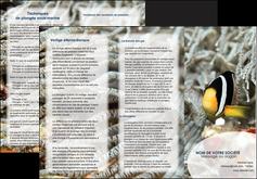 exemple depliant 3 volets  6 pages  animal poisson plongee nature MLGI37931