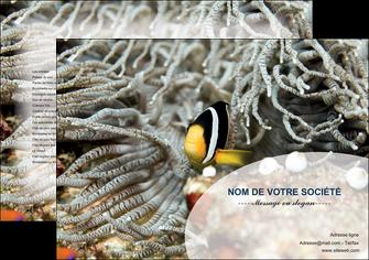 personnaliser modele de set de table animal poisson plongee nature MLGI37935