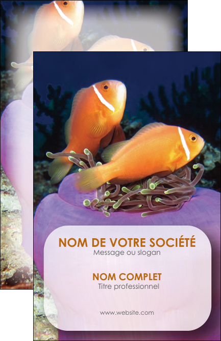 Creer Modele En Ligne Carte De Visite Animal Poissons Rouge Plongee Univers Sous Marine MLGI37965