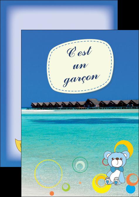 creer modele en ligne flyers plage mer bungalow MLIG38057
