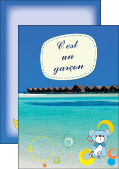 creation graphique en ligne flyers plage mer bungalow MLIG38061