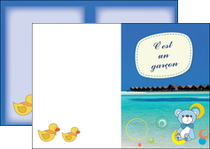 cree depliant 2 volets  4 pages  plage mer bungalow MLIG38067