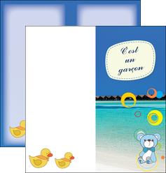 creation graphique en ligne depliant 2 volets  4 pages  plage mer bungalow MLIG38069