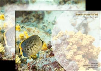 maquette en ligne a personnaliser flyers plongee  poisson plongee nature MLGI38225