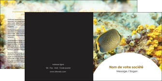 faire depliant 2 volets  4 pages  animal poisson plongee nature MLGI38229