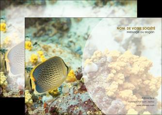 personnaliser maquette flyers animal poisson plongee nature MLGI38231