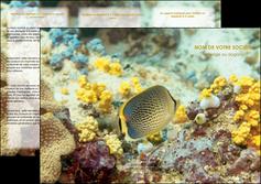 faire modele a imprimer depliant 3 volets  6 pages  animal poisson plongee nature MLGI38233