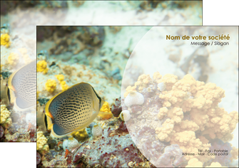 personnaliser maquette flyers animal poisson plongee nature MLGI38235