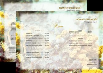 maquette en ligne a personnaliser set de table restaurant set de table menu liste des plats MLGI38237