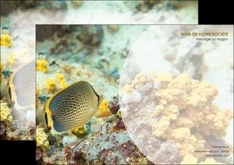 personnaliser maquette affiche animal poisson plongee nature MLGI38239