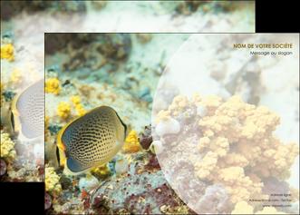 personnaliser modele de affiche plongee  poisson plongee nature MLGI38241