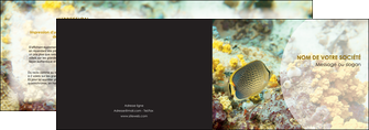 cree depliant 2 volets  4 pages  animal poisson plongee nature MLGI38245