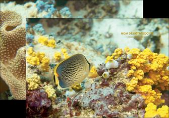 exemple pochette a rabat animal poisson plongee nature MLGI38247
