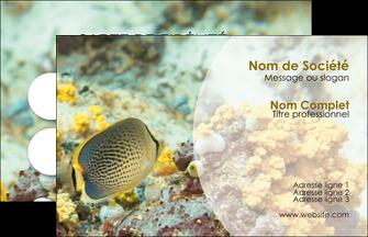 faire modele a imprimer carte de visite plongee  poisson plongee nature MLGI38251