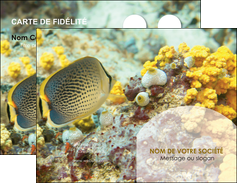 personnaliser modele de carte de visite animal poisson plongee nature MLGI38253
