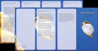 modele depliant 4 volets  8 pages  poisson et crustace poissons mer ocean MIF38867