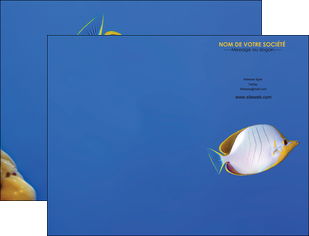 imprimer pochette a rabat poisson et crustace poissons mer ocean MIF38873