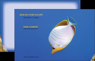 maquette en ligne a personnaliser carte de visite poisson et crustace poissons mer ocean MIF38875