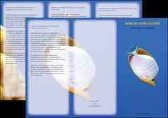 modele depliant 3 volets  6 pages  poisson et crustace poissons mer ocean MIF38877