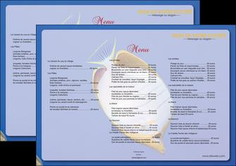 modele en ligne set de table poisson et crustace poissons mer ocean MIF38879