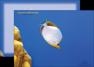 personnaliser maquette affiche poisson et crustace poissons mer ocean MIF38885