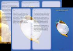personnaliser maquette depliant 3 volets  6 pages  poisson et crustace poissons mer ocean MIF38887