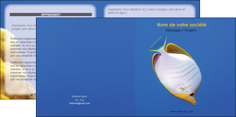 faire modele a imprimer depliant 2 volets  4 pages  poisson et crustace poissons mer ocean MIF38891