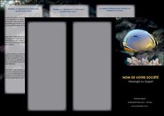 imprimerie depliant 3 volets  6 pages  animal poisson animal nature MLGI38931