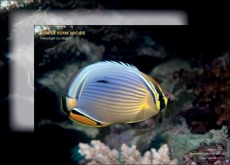 modele en ligne affiche animal poisson animal nature MLGI38939