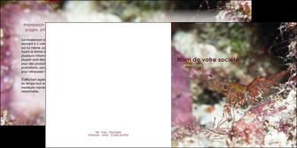 modele en ligne depliant 2 volets  4 pages  poisson et crustace crevette crustace animal MIS38995