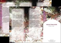 imprimerie depliant 3 volets  6 pages  poisson et crustace crevette crustace animal MIS38999