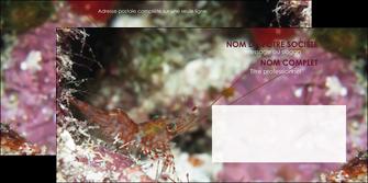 imprimerie enveloppe poisson et crustace crevette crustace animal MIS39009