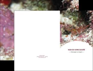 personnaliser modele de pochette a rabat poisson et crustace crevette crustace animal MIF39025