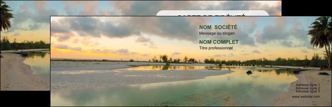 Carte de visite mod le et exemple plage bord de mer arbre for Agence format paysage