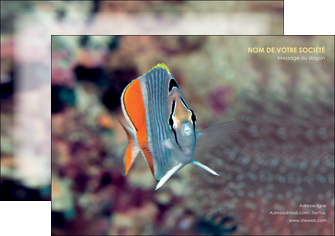 maquette en ligne a personnaliser affiche animal poisson plongee nature MIF39445