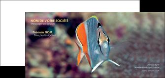 maquette en ligne a personnaliser carte de correspondance animal poisson plongee nature MIF39447