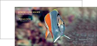 maquette en ligne a personnaliser carte de correspondance animal poisson plongee nature MLGI39447