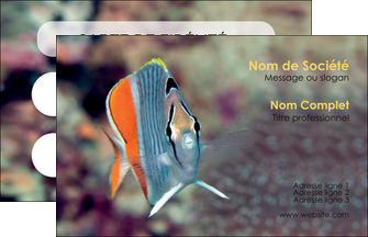 creation graphique en ligne carte de visite animal poisson plongee nature MIF39455