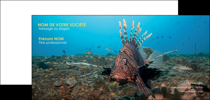cree carte de correspondance animal poissons animal bleu MLGI39561