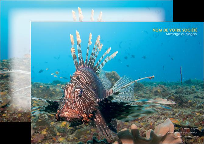 modele flyers animal poissons animal bleu MLGI39565