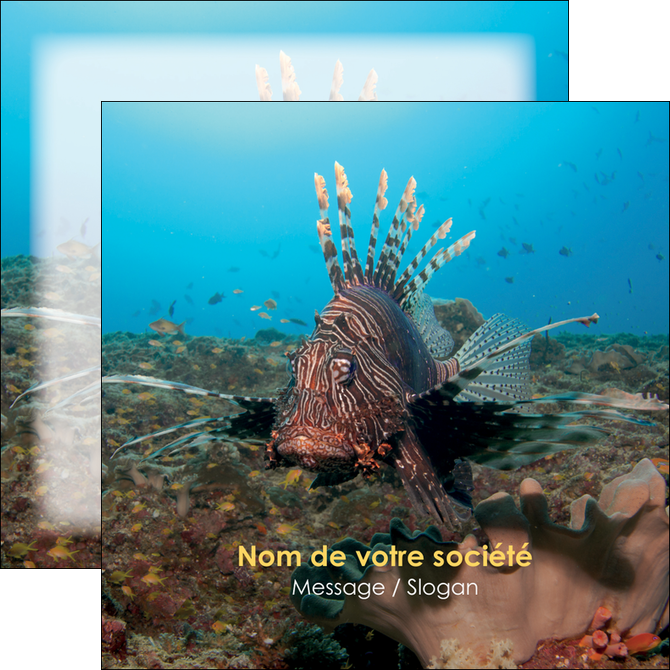 exemple flyers animal poissons animal bleu MLGI39567