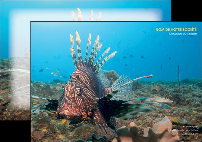 maquette en ligne a personnaliser affiche animal poissons animal bleu MLGI39579