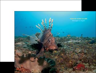 personnaliser maquette pochette a rabat animal poissons animal bleu MLGI39587