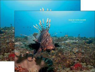 maquette en ligne a personnaliser pochette a rabat animal poissons animal bleu MLGI39589