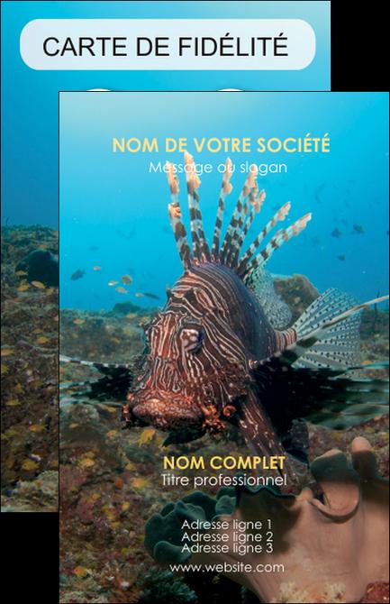 modele en ligne carte de visite animal poissons animal bleu MLGI39591