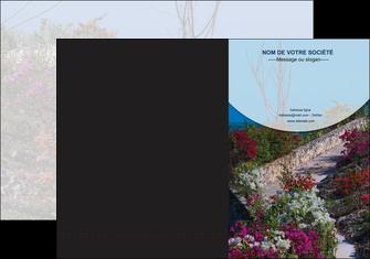 Commander Plaquette commerciale avec rabat Fleuriste & Jardinage imprimer-plaquette-commerciale-avec-rabat-porte-insert-document-personnalise Chemises à rabats - A4 plus - Quadri recto-verso - double rainages